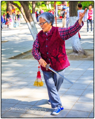 Tai Chi Soloist at Xingqing Park, Xian-3