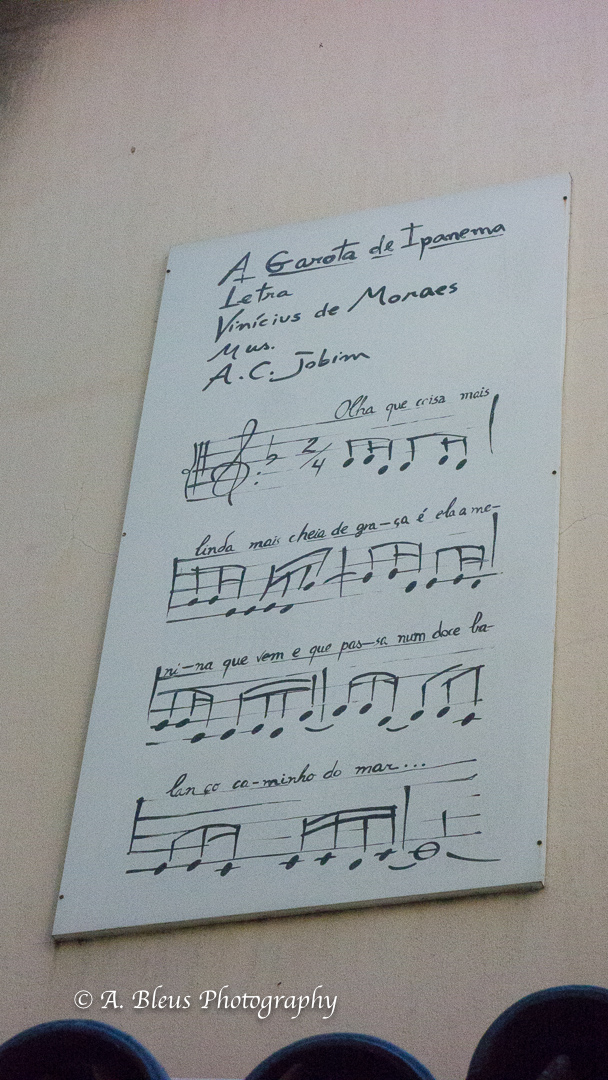 First notes of the faous song on Restaurant Wall, Rio - DSC04256