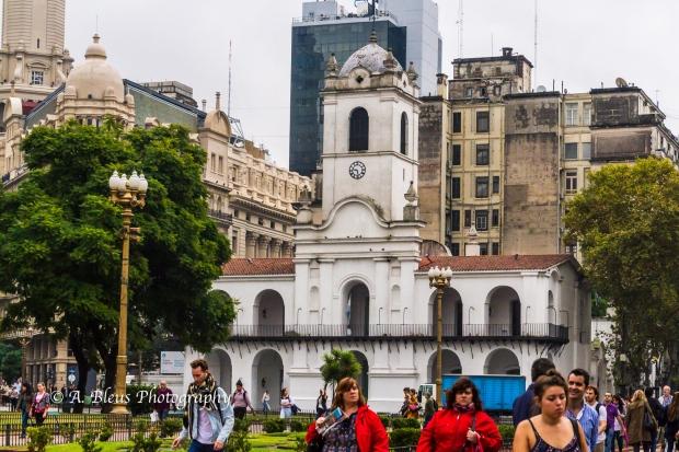Buidings Façade on Plaza de Mayo, Argentina MG_9962-5