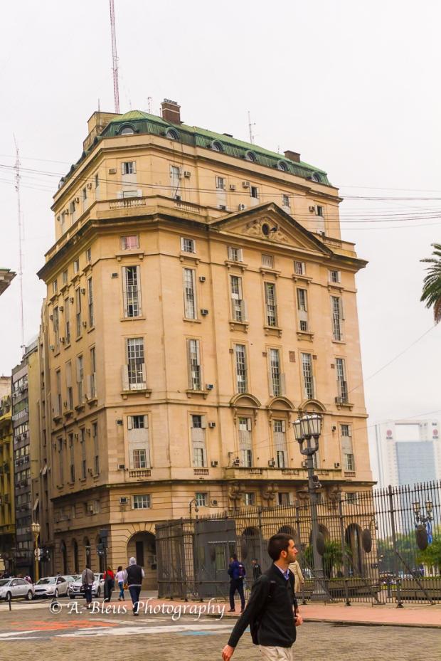 Buidings Façade on Plaza de Mayo, Argentina MG_9962-9