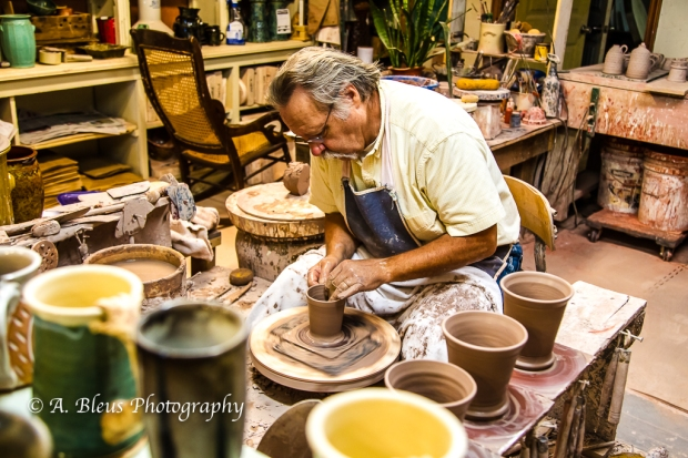 Artist at work, Saluda North Carolina, 93E0755-3