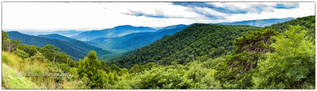 Mountaintop Panorama view from overlook at Shenandoah National Park, Virginia