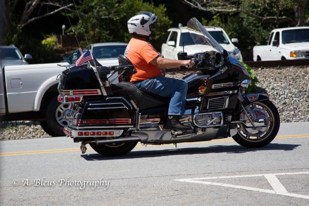 Riding in Downtown Saluda, North Carolina-93E0770
