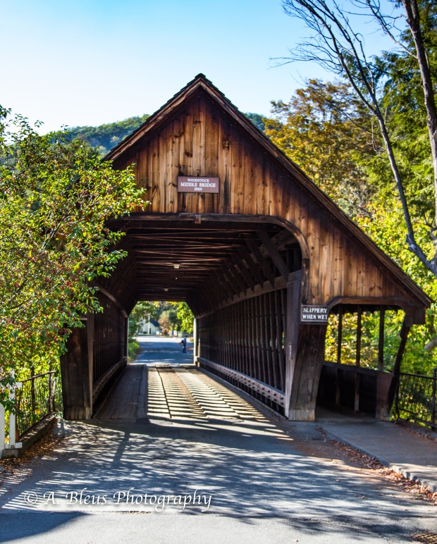 Covered Bridge- Woodstock, Vermont-93E1589-1