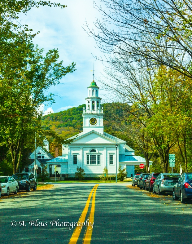 First Congretional Church in Woodstock, Vermont -93E1775