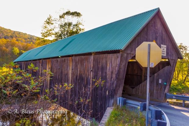 Lincoln Covered Bridge, West Woodstock, Vermont-93E1632-4