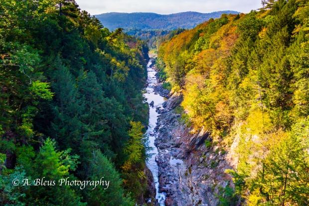 Ottauquechee River - Quechee Gorge Canyon, Vermont -93E1740-2