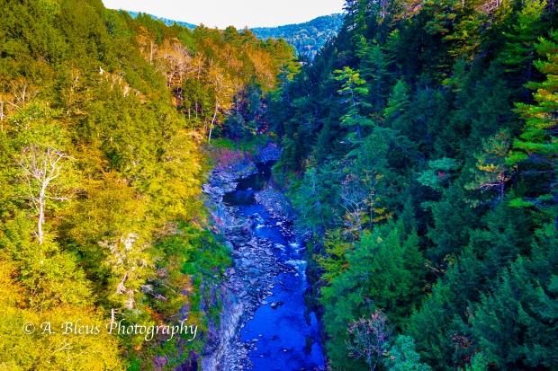 Ottauquechee River - Quechee Gorge Canyon, Vermont -93E1740-4