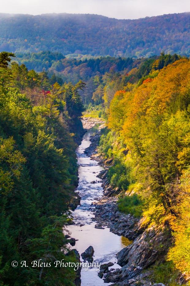 Ottauquechee River - Quechee Gorge Canyon, Vermont -93E1740