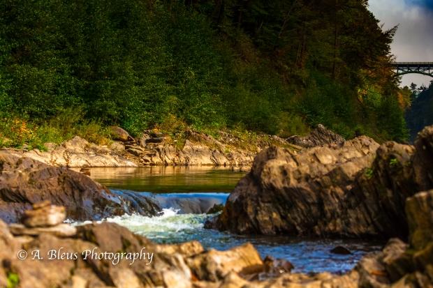 Ottauquechee River - Quechee Gorge, Vermont -93E1710-3