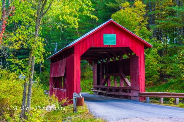 Upper Covered Bridge, Vermont -93E1838-2