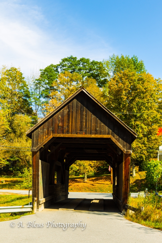 Warren Covered Bridge Vermont-93E1819-2