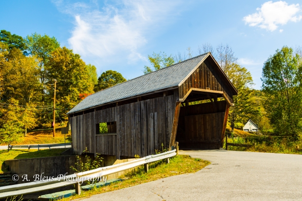 Warren Covered Bridge Vermont-93E1819-3