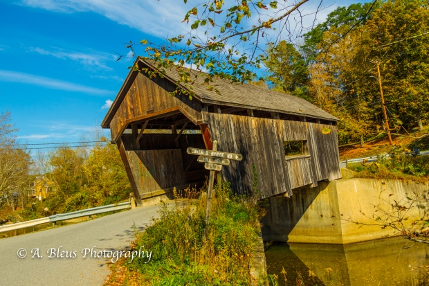 Warren Covered Bridge Vermont-93E1819-4