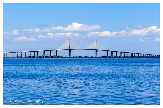 The Sunshine Skyway Bridge view from East Beach of Fort De Soto Park_93E6654